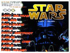 Star Wars : Saturday, 19 November 1994 Flyers, Sydney, Rave, November, Star Wars, Comic Books, Stars, Comics, Movie Posters