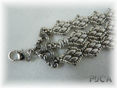 bracelet argent bout like to make,Pattern? Seed Bead Bracelets, Seed Bead Jewelry, Bead Jewellery, Beaded Jewelry, Handmade Jewelry, Seed Beads, Jewlery, Jewelry Patterns, Bracelet Patterns