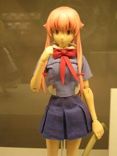 Action Figure Gasai Yuno Mirai Nikki Art Room Mirai