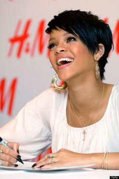 Rihanna. I'm a short hair girl. I love a sharp haircut!