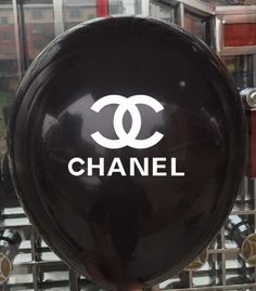 Chanel Style Custom Balloons...Are a perfect addition to our Chanel style collection items...Have your event floating on air!! Available in black, white & pink!