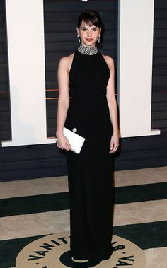 Felicity Jones en Saint Laurent