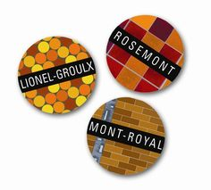 Montreal metro station pins, with matching floor and wall patterns