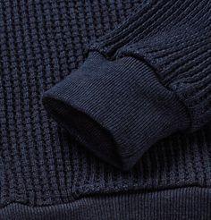 f3ba29bc Blue Blue Japan Waffle-Knit Cotton Sweater Waffle Knit, Mr Porter, Cotton  Sweater