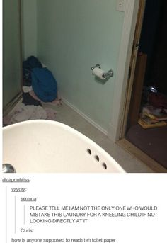 I was like, why is there a person in the corner??? Then read the comment and just kinda freaked