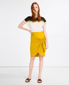KNOTTED WRAP SKIRT-SKIRTS-WOMAN | ZARA United States