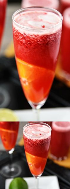 This Raspberry-Orange Sparkling Punch from Cupcake Diaries is the perfect refreshment for parties. Deep raspberry red is combined with bright orange slices for a satisfying and beautiful drink!