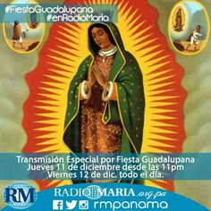 No te pierdas la programación especial #FiestaGuadalupana, el 11 y 12 de diciembre, por Radio María!