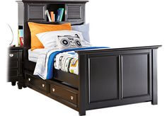 Shop for a Belmar Black 3 Pc Twin Bookcase Bed at Rooms To Go Kids. Find  that will look great in your home and complement the rest of your furniture. #iSofa #roomstogo