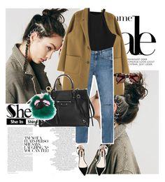 """Sheinside"" by anxhela-beluli ❤ liked on Polyvore featuring Free People, Zara, Balenciaga, Fendi and shein"