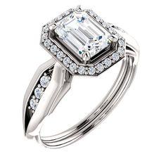 1.0 Ct Emerald Ring 14kt X1 White – Goldia.com