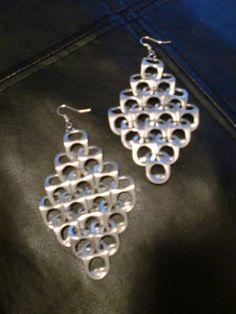 van bierblikopenertjes tot oorbellen Soda Tab earrings! Upcycle!!