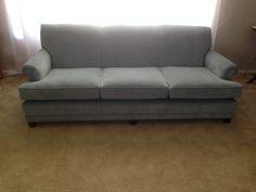 Reupholstered Tight Back 3 Cushion Sofa.