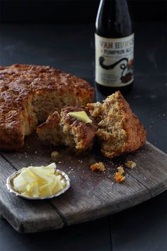 Sweet Potato and Pumpkin Ale Beer Bread, easy no proving beer bread, best eaten straight out of the oven with lots of butter. So easy! Fun Baking Recipes, Beer Recipes, Barbecue Recipes, Recipies, Cooking With Beer, Fire Cooking, Braai Salads, Pumpkin Beer, Best Bread Recipe