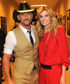 Tim Magraw and Faith Hill   ..the man with the suprise 6 pack.