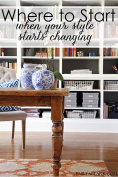 Where To Start When Your Style Starts Changing - Emily A. Clark