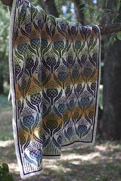 Flowers of Scotland blanket Fair Isle Knitting Patterns, Fair Isle Pattern, Knitting Charts, Loom Knitting, Knitting Stitches, Knitting Designs, Free Knitting, Knitting Projects, Crochet Patterns