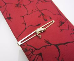 Vintage Mens Tie Clip Clasp Bar Fish Fishing Angling Design Stratton Imitation Open Face Nippy Clip Made In England Gold Tone Metal 1960s by AdornAnewVintage on Etsy #AdornAnew #Etsy #VintageJewellery #ShopSmall