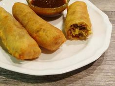 """Gluten Free Egg Rolls and Dipping Sauce - I like this one for the """"batter""""…"""