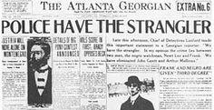 1913: An engineer and superintendent of the National Pencil Company in Atlanta, Leo Frank is unjustly convicted on August 25 for the murder of one of his factory workers, 13-year-old Mary Phagan. He is lynched two years later.