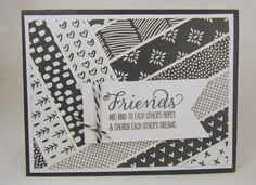 Mena Green - Stampin' Up! Demonstrator - creating and making stamping projects personally yours. Stampin' Up! cards and class projects. Class Projects, Projects To Try, Paper Weaving, Paper Strips, Stamp Making, Stampin Up Cards, Scrap, Paper Crafts, Black And White