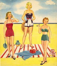 Kathleen Taylor's Dakota Dreams: Thursday Tab- Saalfield Merry Teens, 1953