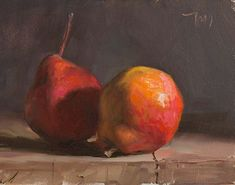 daily painting titled Two pears - click for enlargement