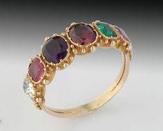 Georgian Regard Ring Beautiful Old Jewellery