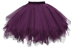 Musever 1950s Vintage Ballet Bubble Skirt Tulle Petticoat Puffy Tutu Dark Purple Small/Medium Special Offer: $16.99 133 Reviews The 1950s style Underskirt is the perfect accompaniment for wearing under ROCK n ROLL/50's style dress/Bridesmaid/Prom dress/Rockabilly dress/ FANCY...
