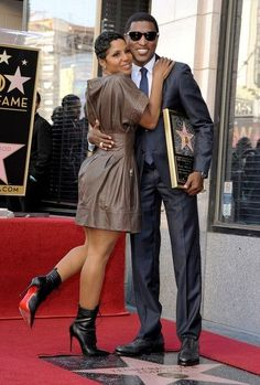 Toni & Babyface at his Hollywood Walk of Fame ceremony.