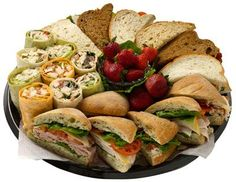 Party Planning: Make DIY Sandwich Platters Party Platters, Deli Platters, Party Trays, Snacks Für Party, Sandwich Platter, Sandwich Bar, Party Sandwiches, Meat Platter, Food Displays