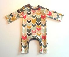 Newborn welcome home outfit-- custom chevron fabric design and pattern by MrsHervi