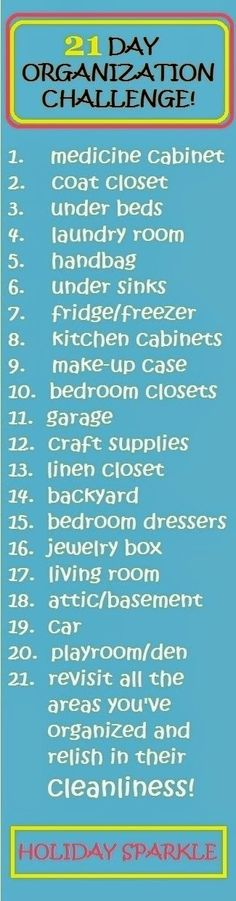 Jess The Miscellaneous: 21 Day Organization Challenge - Day 1 (clean your medicine cabinet) - a 21-step list to get your whole house clean and organized! #organization