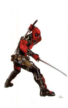 """#Deadpool #Fan #Art. (Deadpool) By: Gabriele Dell'Otto. (To enter Deadpool's """"Cutescenes Movie"""" simply tap URL below while in your browser:  https://m.youtube.com/watch?v=WaiSzQQkJP0  P.S. NOT FOR KIDS!!! (THE * 5 * STÅR * ÅWARD * OF: * AW YEAH, IT'S MAJOR ÅWESOMENESS!!!™) [THANK U 4 PINNING!!!<·><]<©>ÅÅÅ+ (He stands like a Alpha, but fight like a Omega.) 48.     1"""