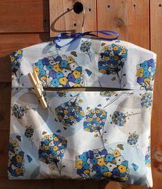 Puff Ball Flower Peg Bag -- Day Dream Hedgerows. £14.00