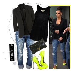 Love me a blazer, a good pair of jeans and some neon yellow pumps!! This has me written all over it!! (: