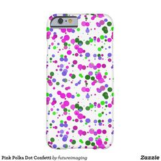 Pink Polka Dot Confetti Barely There iPhone 6 Case Pink Polka Dots, Iphone Case Covers, Confetti, Iphone 6, Future, Samsung, Apple, 6 Case, Design
