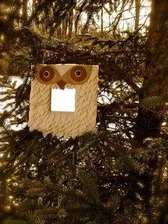 Felt owl mirror