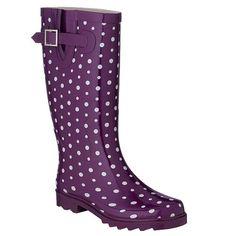Purple Rubber boots...Stylish gardening footwear!