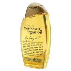Organix® Moroccan Argan Body Oil - 6.8 oz   I am definitely in love with this!  I use it right before I dry off from my shower or bath, then gently pat dry with a towel, and my skin feels soft and hydrated, but never greasy for the rest of the day.  I can't seem to get enough moisture these days, I intensely dislike lotions and creams, and this is just the perfect fix.