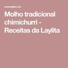 Molho tradicional chimichurri - Receitas da Laylita