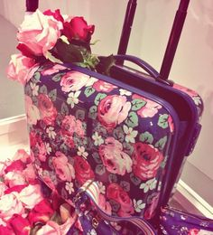 I think I'd book a holiday just so I could use this! Cath Kidston new season (SS14) luggage. Swoon.