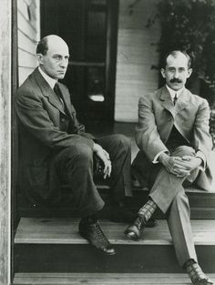 Wilbur & Orville Wright were first to achieve controlled, sustained flight in a heavier-than-air machine - the 1903 Wright Flyer - at Kitty Hawk, North Carolina