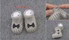 Knitted Circular Baby Patik Model Making Turkish Video Shoes Office Babygirlshoesmoccasins - Diy Crafts - hadido Baby Knitting Patterns, Knitting For Kids, Knitting Socks, Baby Patterns, Hand Knitting, Start Knitting, Booties Crochet, Crochet Baby Shoes, Crochet Baby Booties