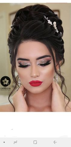 Bridal Eye Makeup, Bride Makeup, Bride Hairstyles, Photography Poses, Face Makeup, Hair Beauty, Indian, Hair Styles, Pattern
