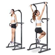 Cheap Wakrays Vertical Knee Raise with Dip and Pull-up Station Power Tower Strength Training Equipment, No Equipment Workout, Workout Gear, Fitness Equipment, Pull Up Station, Dip Station, Power Tower Workout, Push Up Bars, Exercises