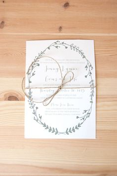 FLORAL WREATH INVITATION by MyDetails on Etsy