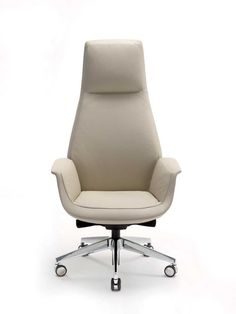 Downtown is an office swivel chair designed by Jean-Marie Massaud for Poltrona Frau available in five versions: President, Executive, Managerial, Meeting e Visitor. The seat, armrest and backrest structure is created from moulded polyurethane foam with a metal insert. Padded with polyurethane foam with different densities for the greatest comfort zones and with a polyester wadding quilted covering.