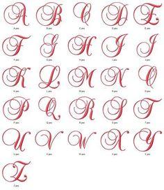 Fancy Satin Script Monogram Fonts Alphabet Machine Embroidery Design CD 4x4 Hoop | eBay