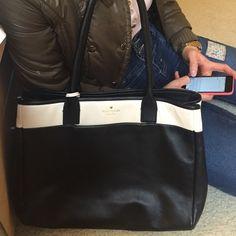 New Kate Spade 100% leather handbag 100 % leather black and white handbag kate spade Bags Totes